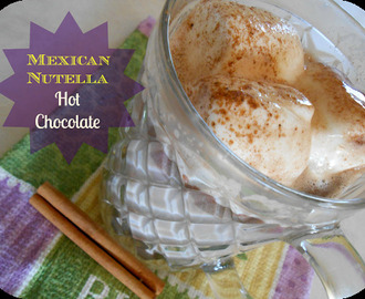 Mexican Nutella Hot Chocolate