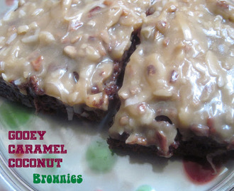 Gooey Caramel Coconut Brownies {Weight Watchers!}