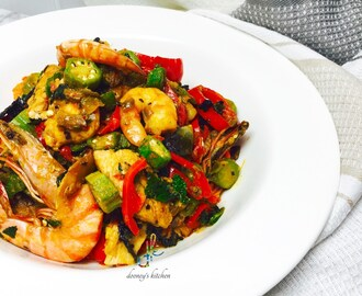 Deconstructed Okro Soup – Okro stir fry