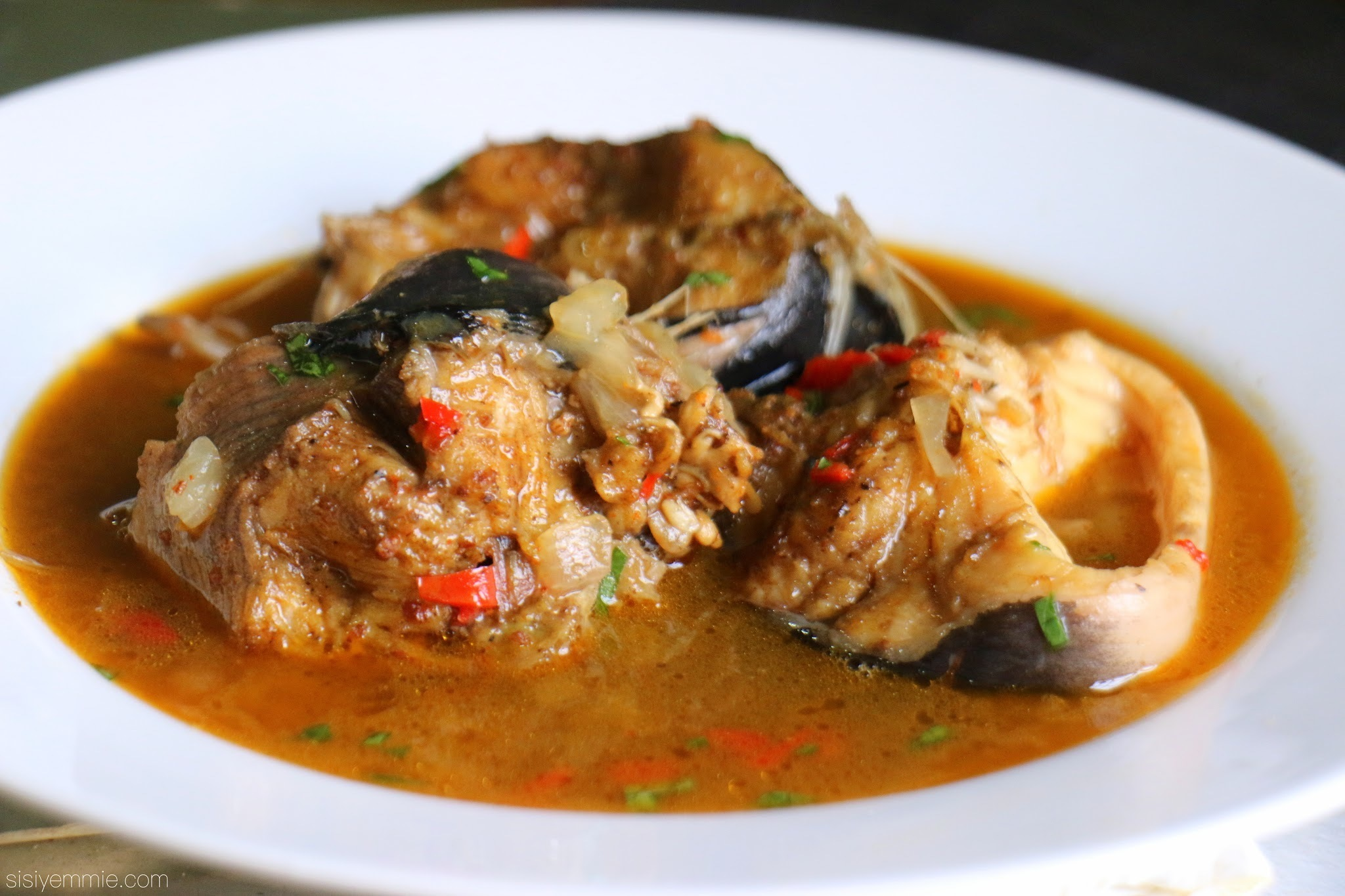 MY CATFISH PEPPERSOUP  aka POINT & KILL RECIPE