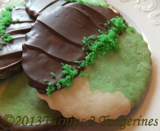 Mint Cookies Dipped in Chocolate