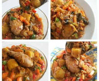 Nigerian plantain pottage