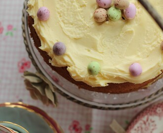 Lemon Frosted Easter Cake