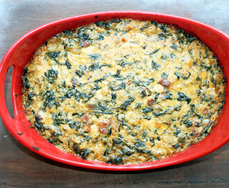 Spinach Artichoke Dip with Gouda and Bacon