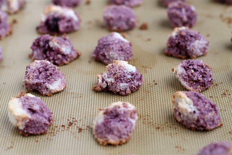 Blackberry or Raspberry Coconut Macaroons - dairy free & gluten free