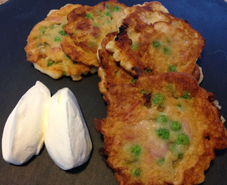 Pea & Ham Fritters - Easy teatime treat or lunchbox filler