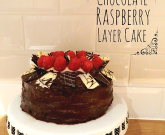 Chocolate & Raspberry Layer Cake