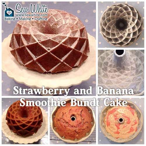 Strawberry and Banana Smoothie Bundt Cake – Nordic Ware Jubilee Bundt