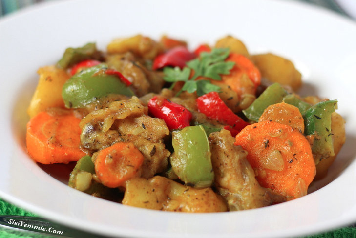 POTATO  & TURKEY CURRY/POTTAGE