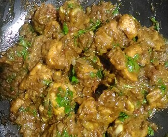 Chicken Thokku/Semi Gravy in Chettinad Style