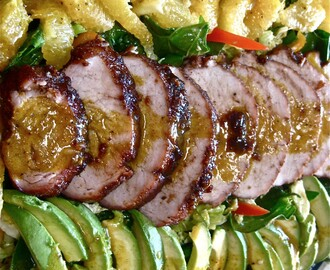 Island Pork Tenderloin Salad with Coconut Bread