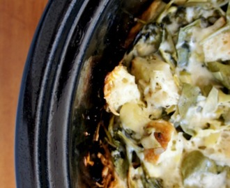 Recipe for Spinach Artichoke Bread Pudding