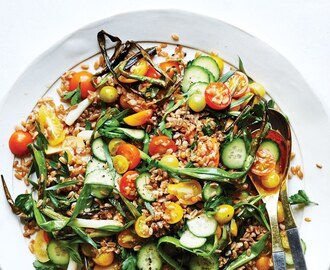 Farro and Tomato Salad with Fish-Sauce Vinaigrette