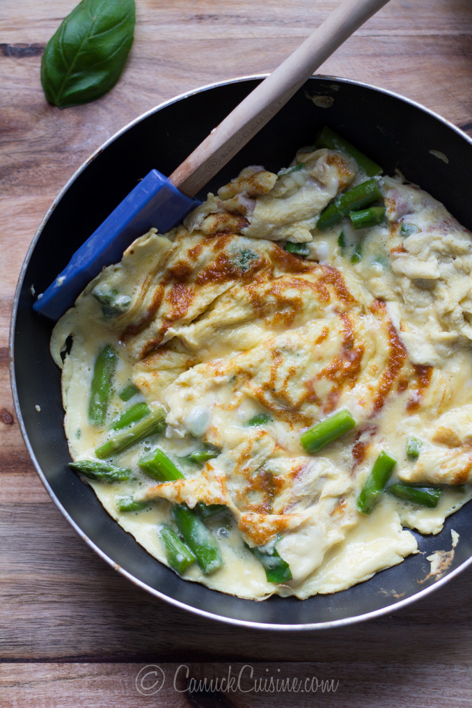 Spring Omelette with Asparagus and Herbs