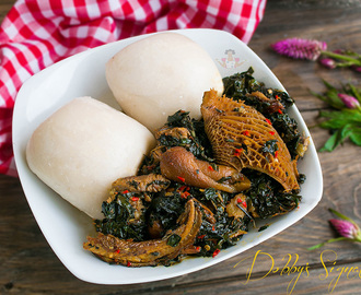 Efo Shoko a.k.a Efo riro (yoruba style vegetable soup using shokoyokoto)