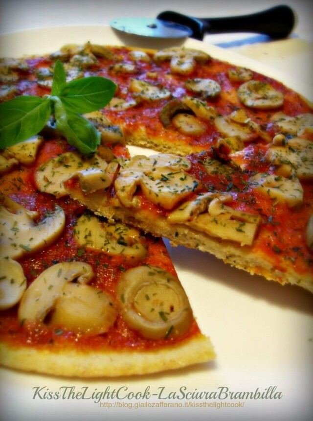 Pizza integrale con verdure