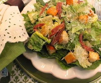 Simply Delicious For Spring!  Fresh Pesto Caesar Salad