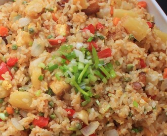 [週一無肉日] 鳳梨豆腐炒飯 – Pineapple Tofu Fried Rice