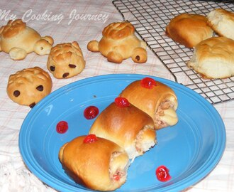Coconut Stuffed Buns/rolls and Shaped rolls using Tangzhong Method (We Knead to Bake – Bread 3)