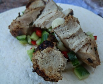 We had Summer last week and this is what we cooked... - Thai Style Marinated Pork with Chilli Dressing