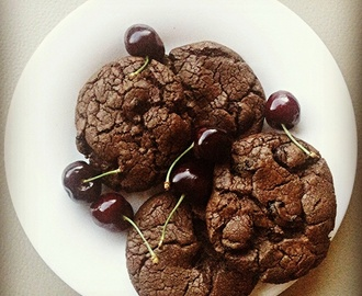 Black Forest Brownie Cookies