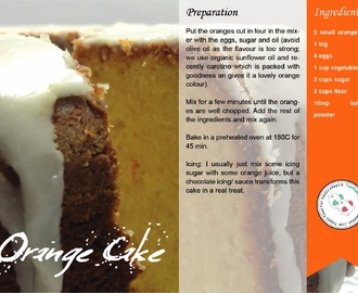Orange Cake - Easy and dairy free