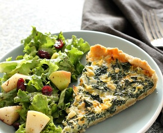Kale and Leek Quiche
