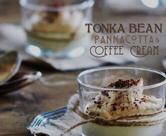 Tonka Bean Pannacotta with Coffee Cream (Tonkaböna Pannacotta med Kaffegrädde)