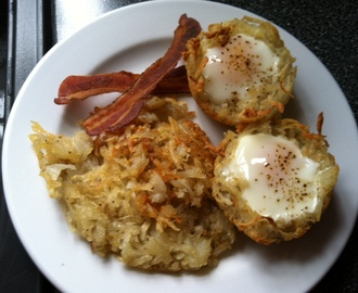 Potato Hash Egg Nests