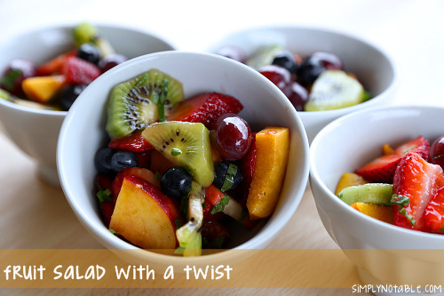 Fruit salad with a twist!