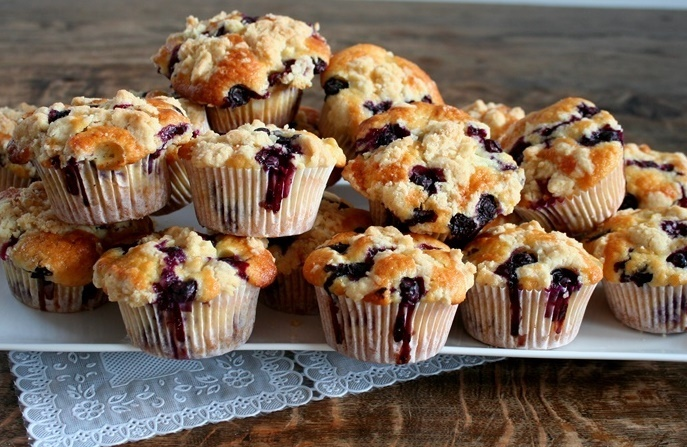 Blueberry-crumble muffins van Ottolenghi