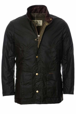Barbour Hereford Wax Jacket Oliv Jacka