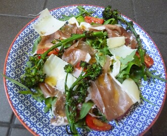 Parma Ham and Grilled Broccoli Salad with a Honey, Mustard and Lemon Dressing Recipe