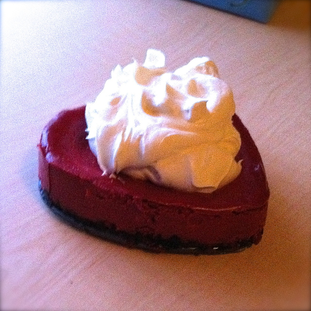 Valentine's Day Red Velvet Cheesecake