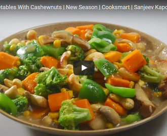 Garlic Vegetables With Cashewnuts Recipe Video