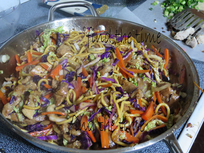 Pork Stir Fry with lo mein noodles