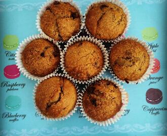 #Recipe – Banana and chocolate chip muffins, egg free recipe