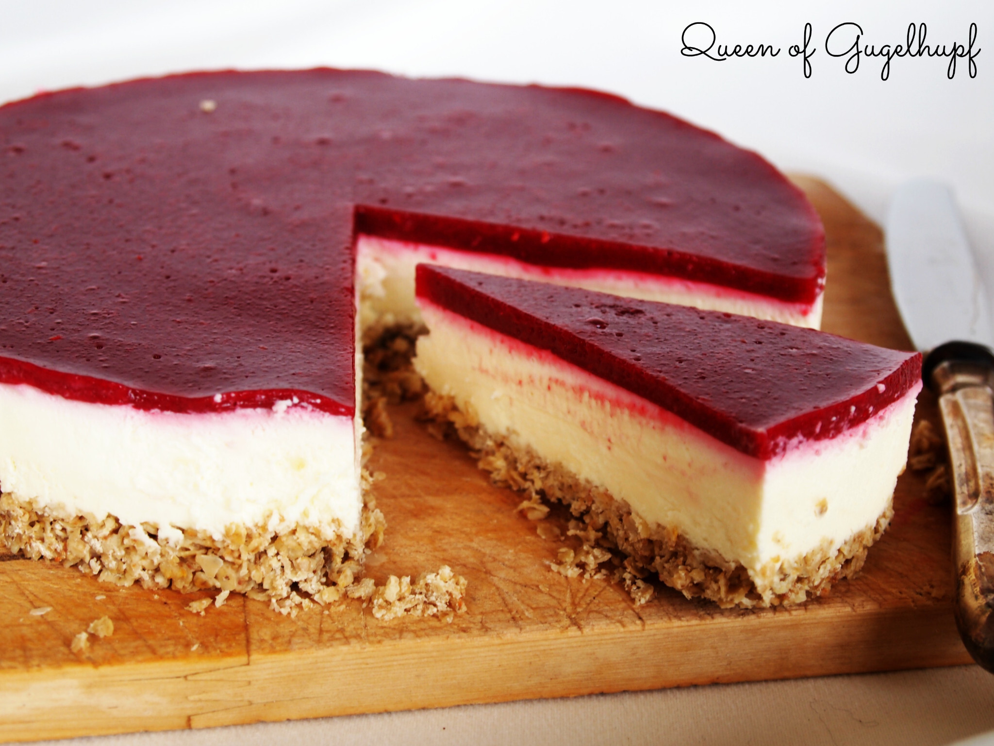 White Chocolate Raspberry Cheesecake, no bake