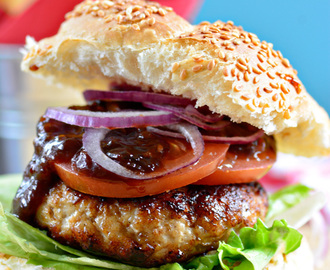 Turkey Burgers and Monkeygland Sauce