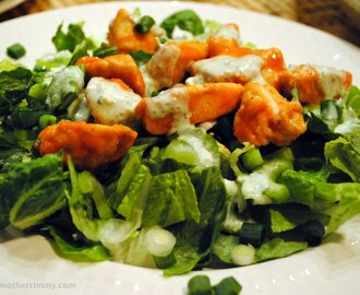 Buffalo Chicken Salad with Blue Cheese Dressing