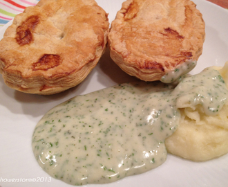 Pie and mash, liquor and jam tarts