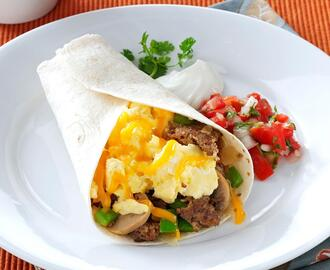 Sausage Breakfast Burritos Recipe