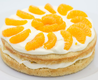 Lemon Cake with Mandarines