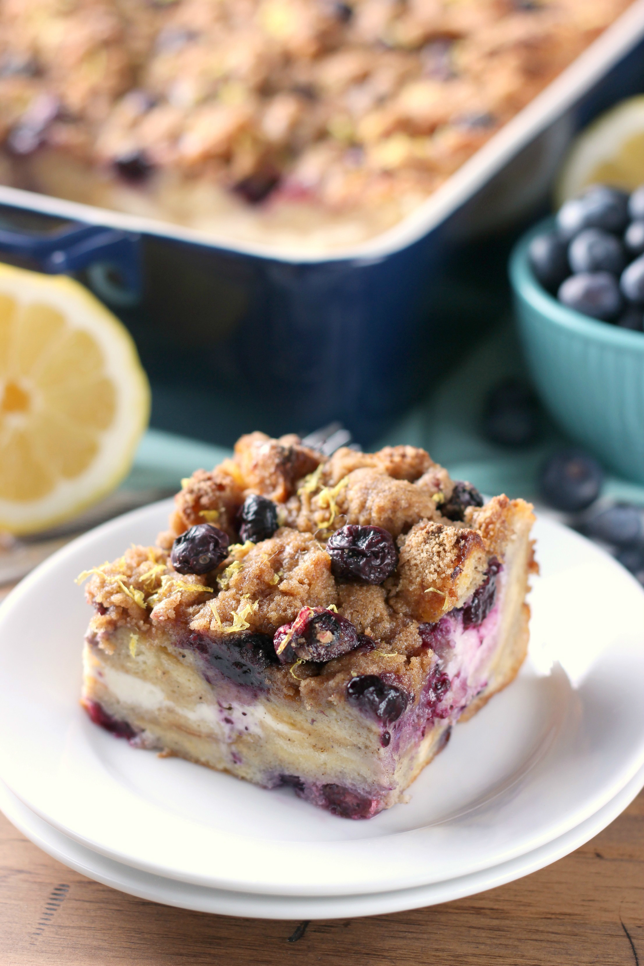 Blueberry Lemon Cream French Toast Bake (Overnight Option!)