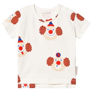 Tinycottons Clown T-shirt Off White/Sienna 2 år