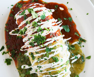 Smothered Chicken Burritos