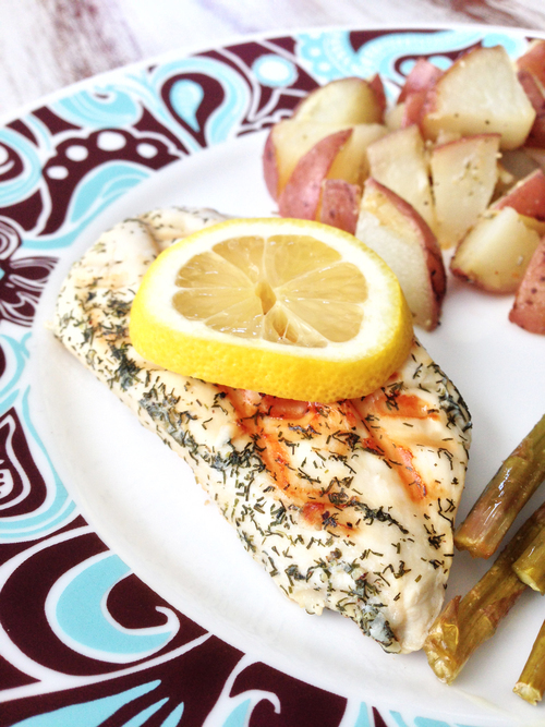 Skinny Lemon Dill Chicken