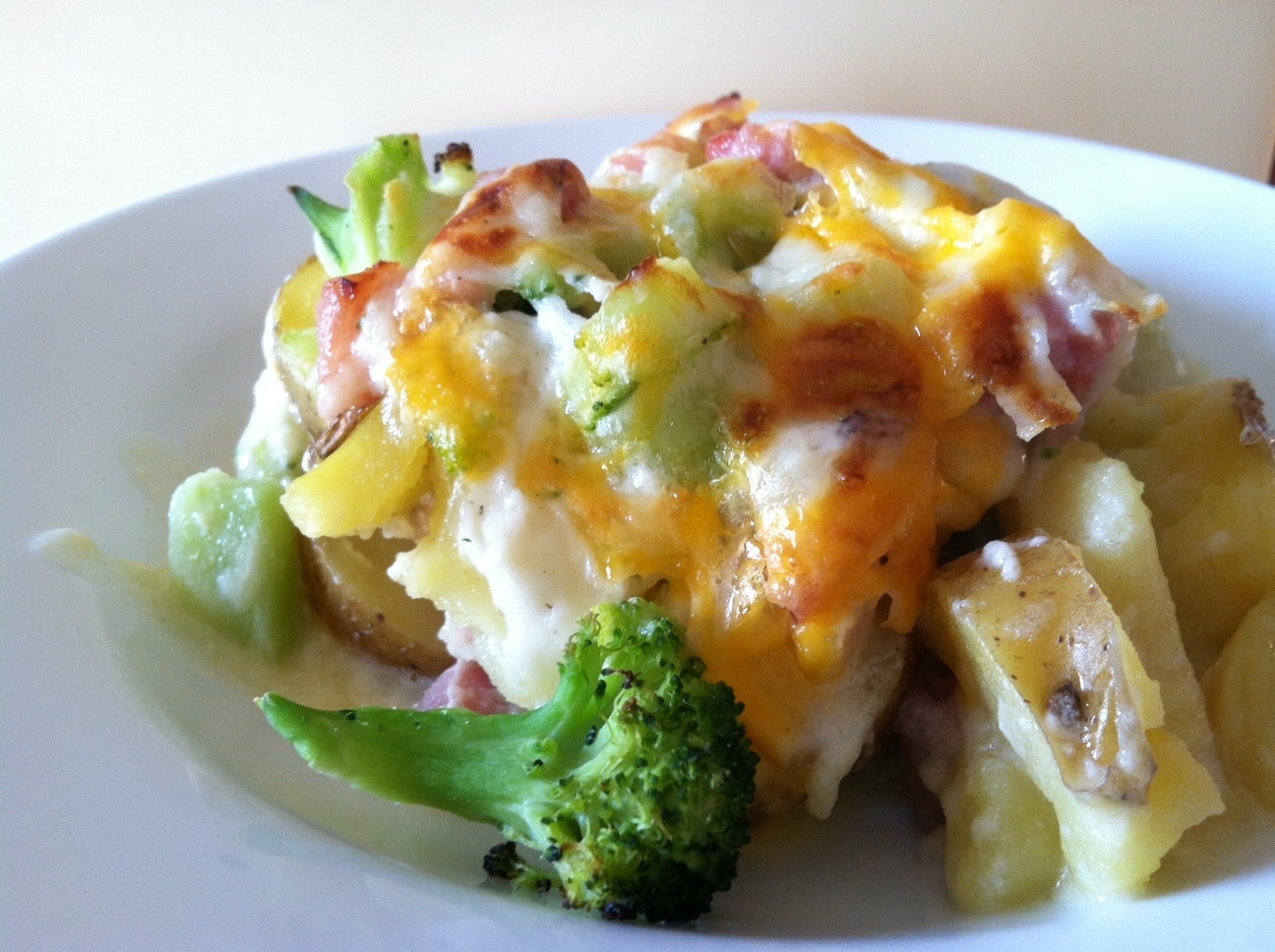 Scalloped Ham, Potato and Broccoli