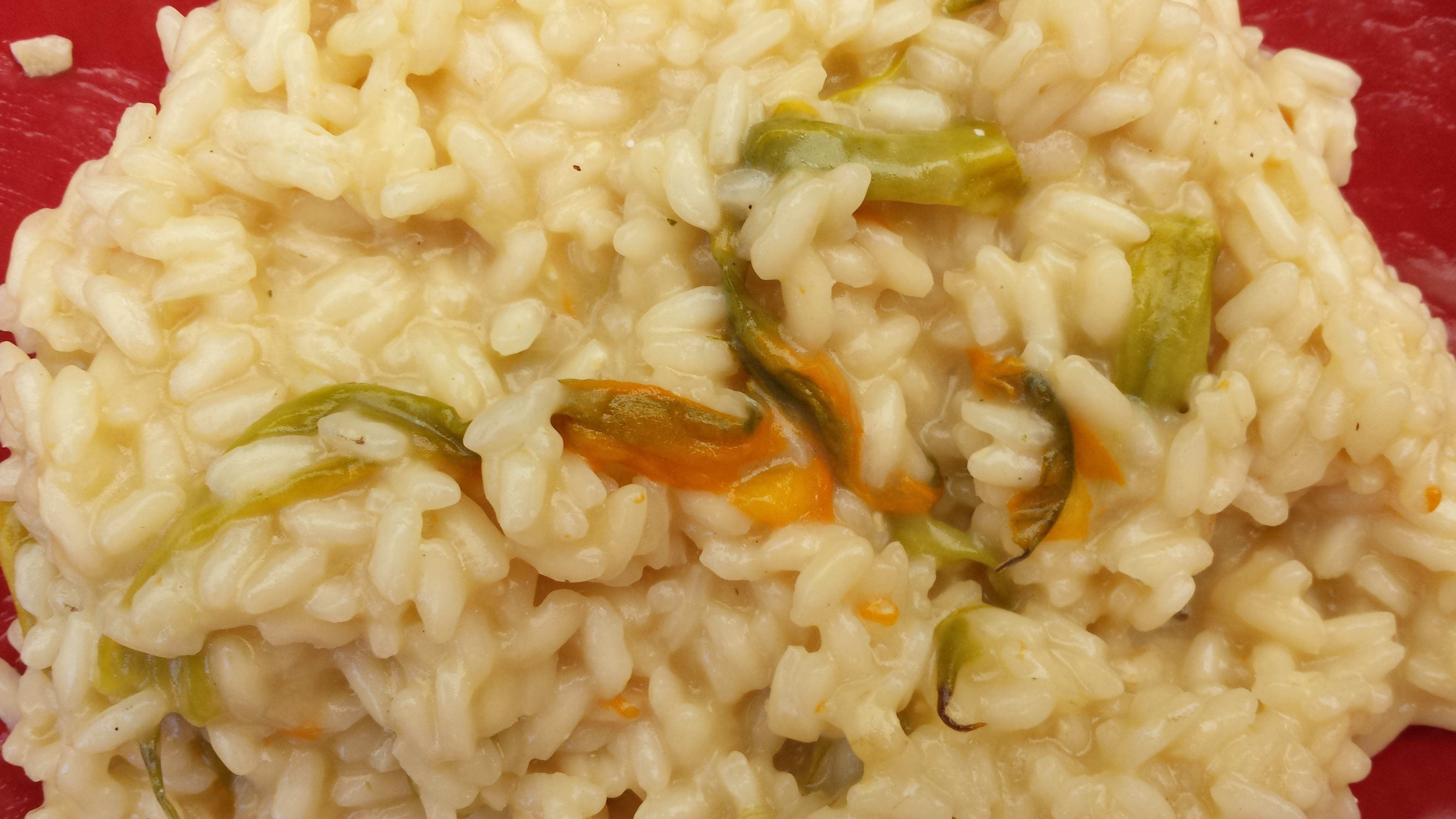 Risotto with Parmesan and Zucchini Flowers