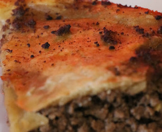 BEST EVER MINCE ONION AND GUINNESS PLATE PIE